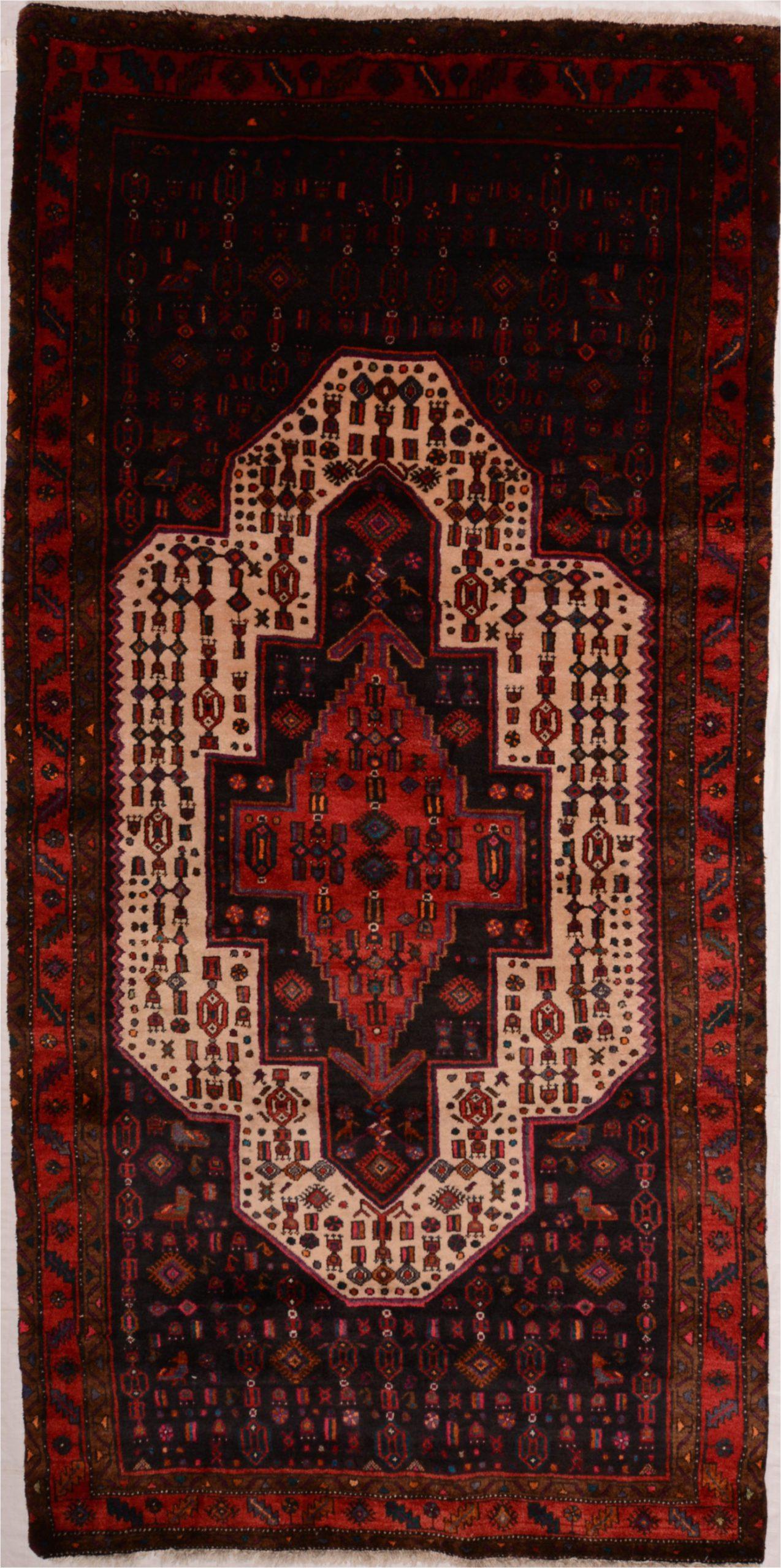 persian ghoochan wool red wide runner area rug