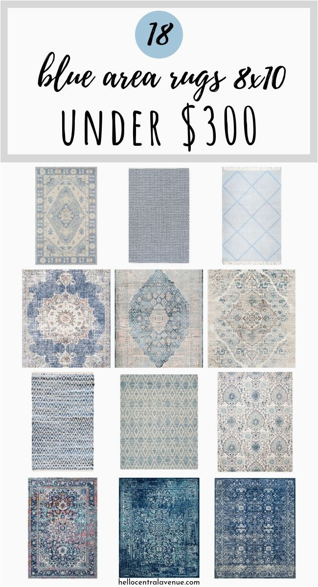 blue area rugs 8x10 for under 300