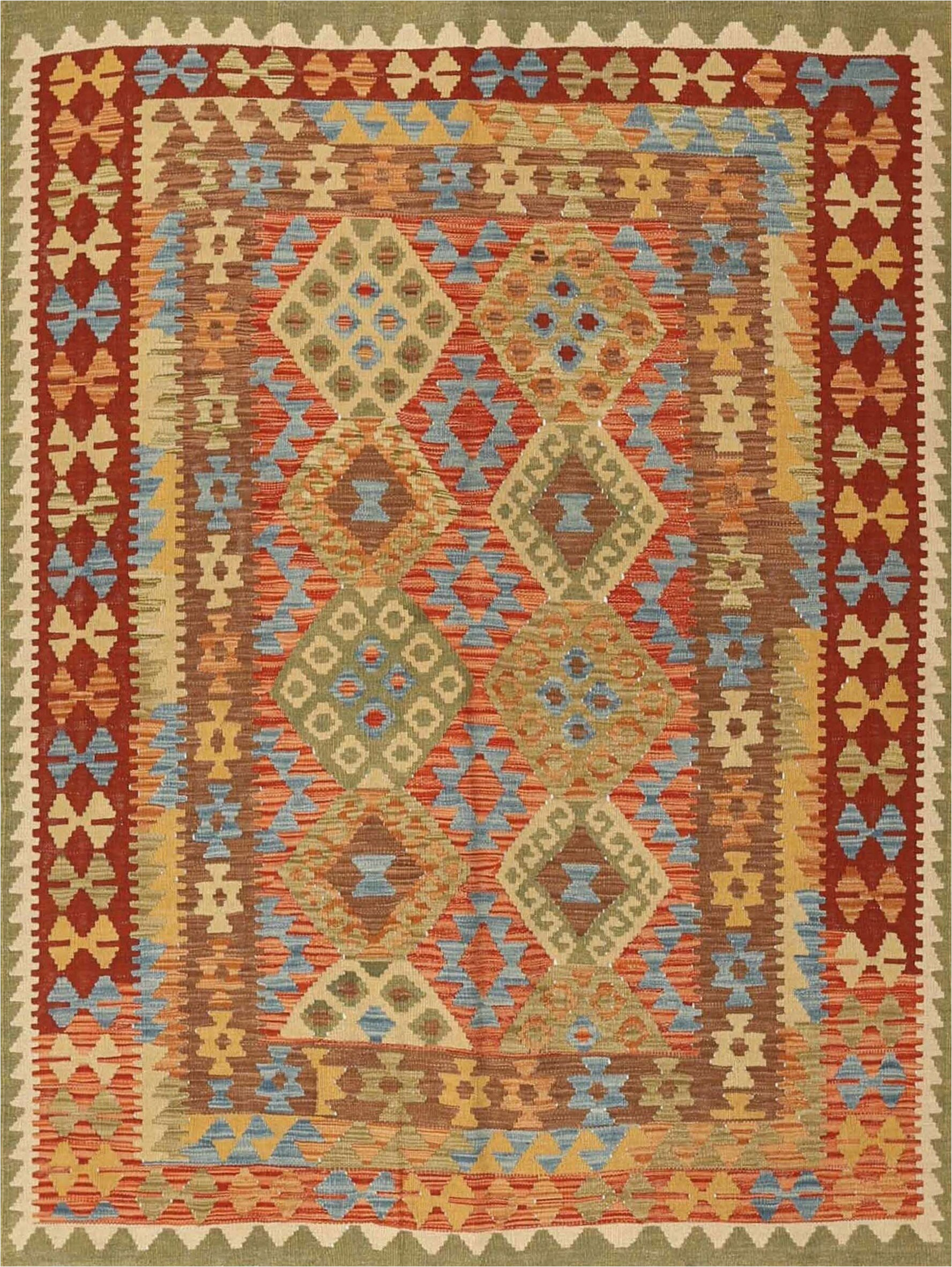 brightmoor contemporary orangebrownblue area rug
