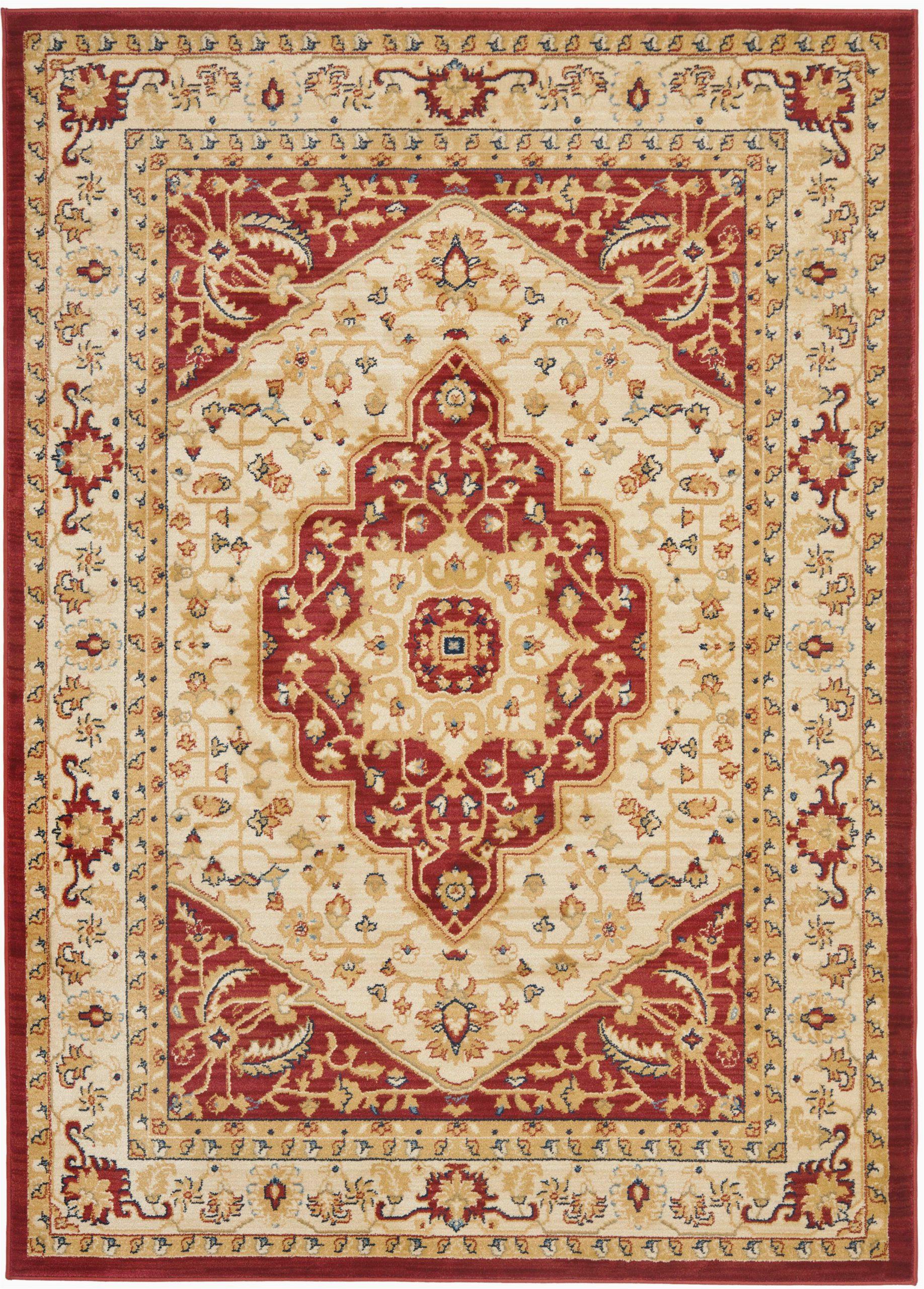 riverhead oriental creamred area rug
