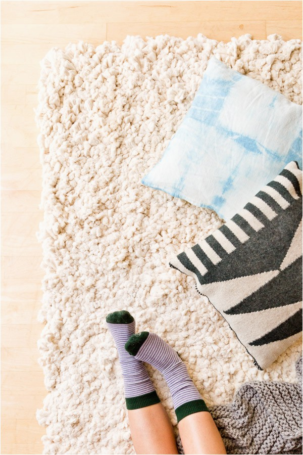 cotton diy rug large scale white 1