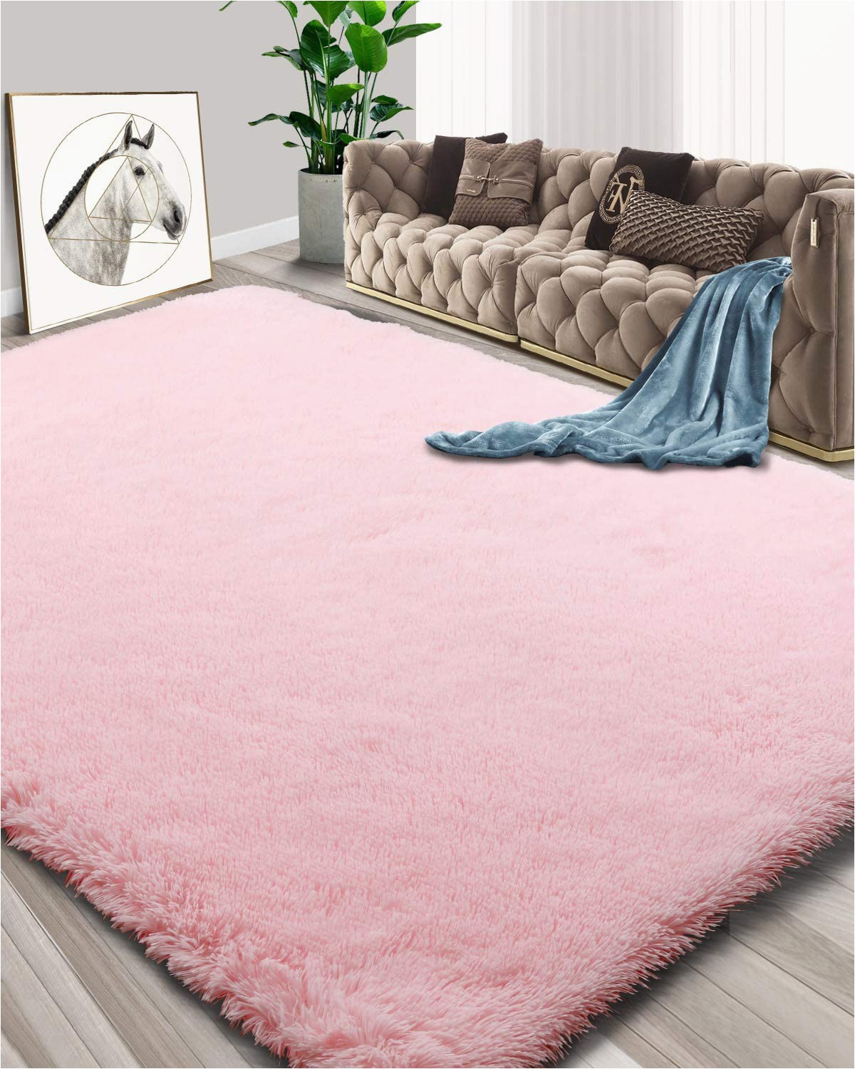 Fluffy area Rugs for Bedroom Foxmas Ultra soft Fluffy area Rugs for Bedroom Kids Room Plush Shaggy Nursery Rug Furry Throw Carpets for Boys Girls College Dorm Fuzzy Rugs Living