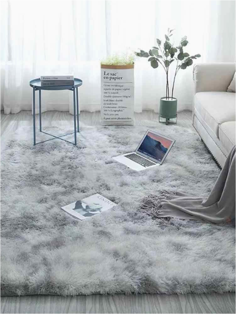 Tie dye Carpet Floor Bedroom Mat Gra nt Color Fluffy Soft Area Rugs Antiskid Living Room Coffee q50