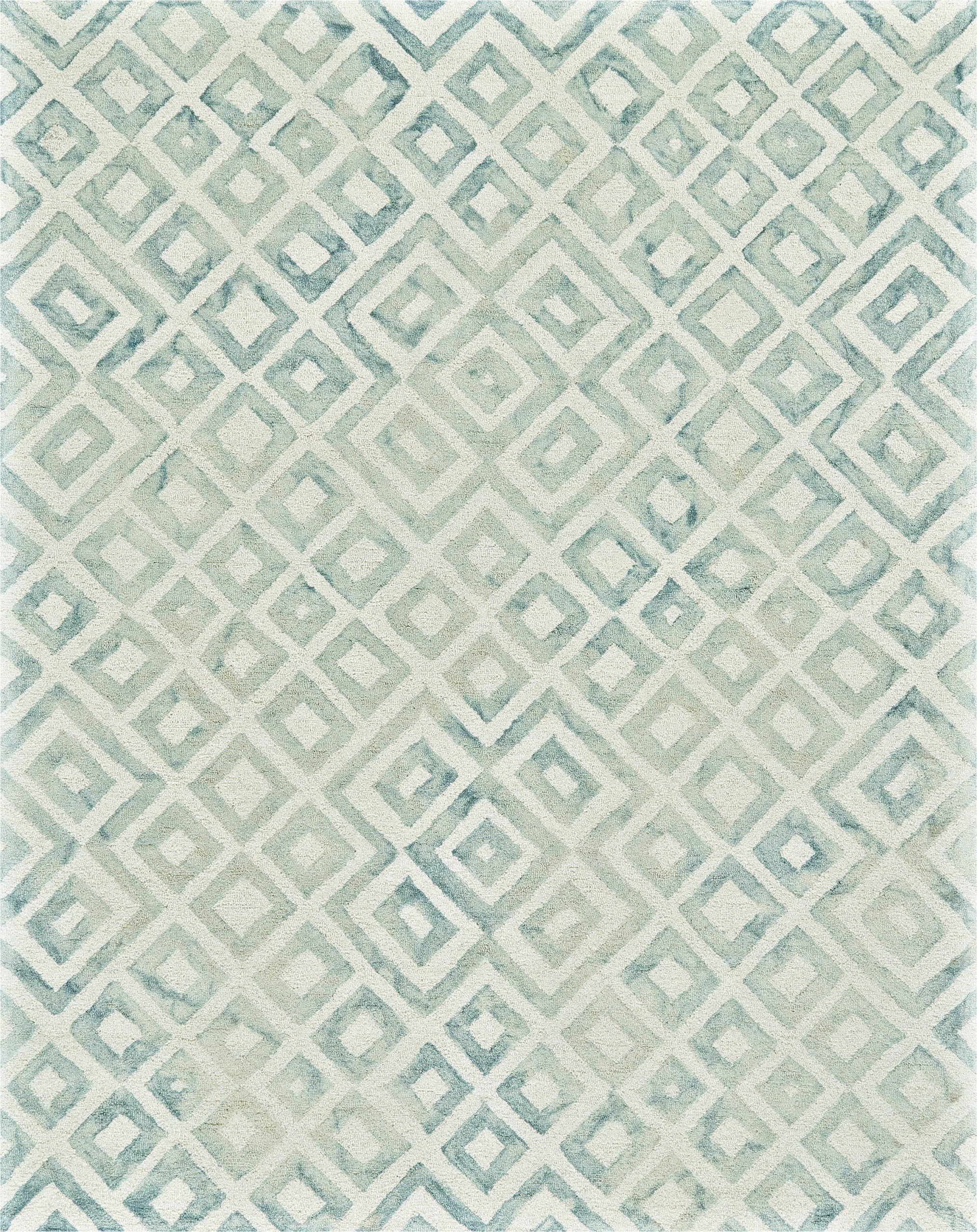 ebern designs frederick geometric hand hooked wool bluebeige area rug ebnd6366 piid=