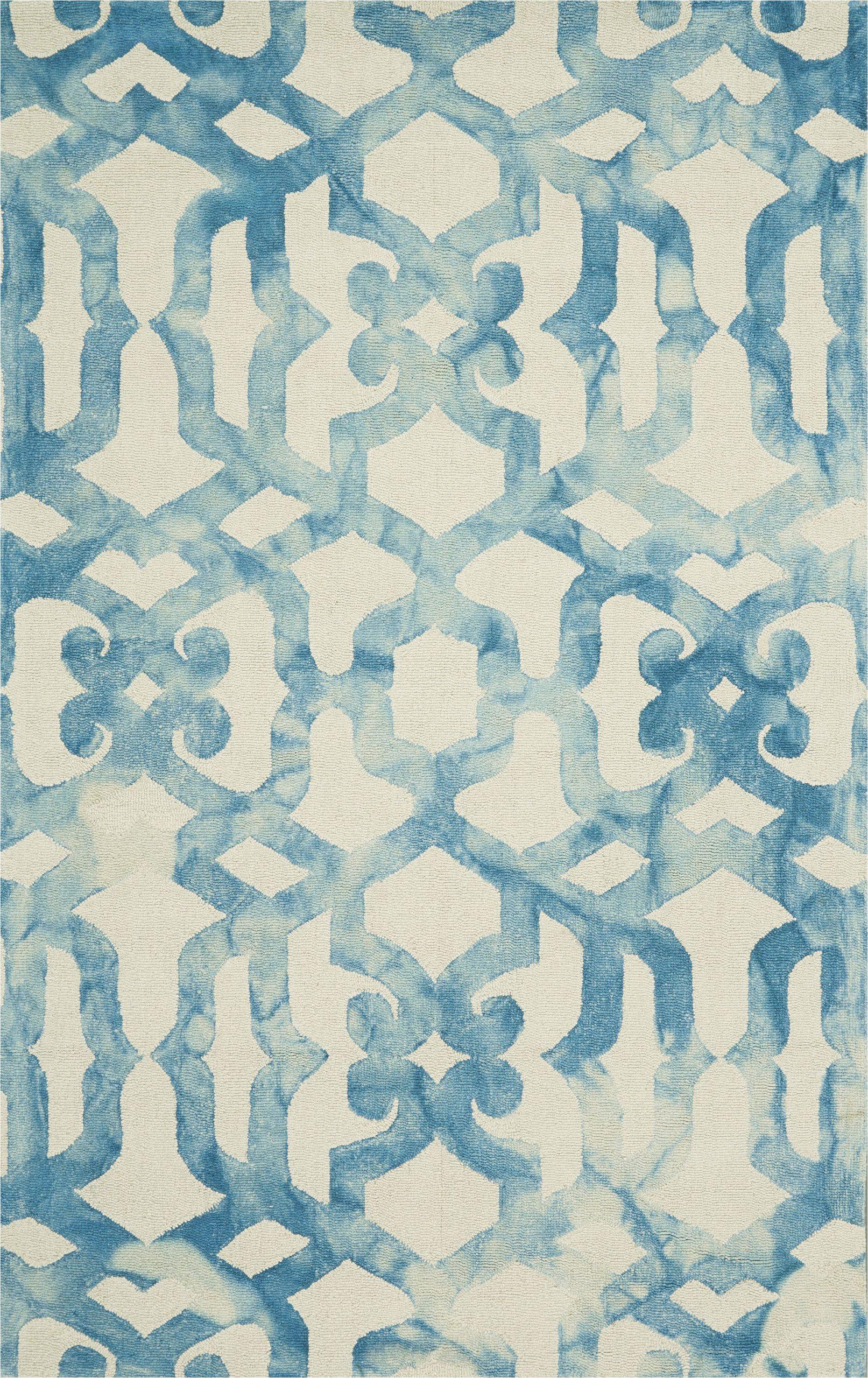 frederick geometric handmade tufted ocean area rug