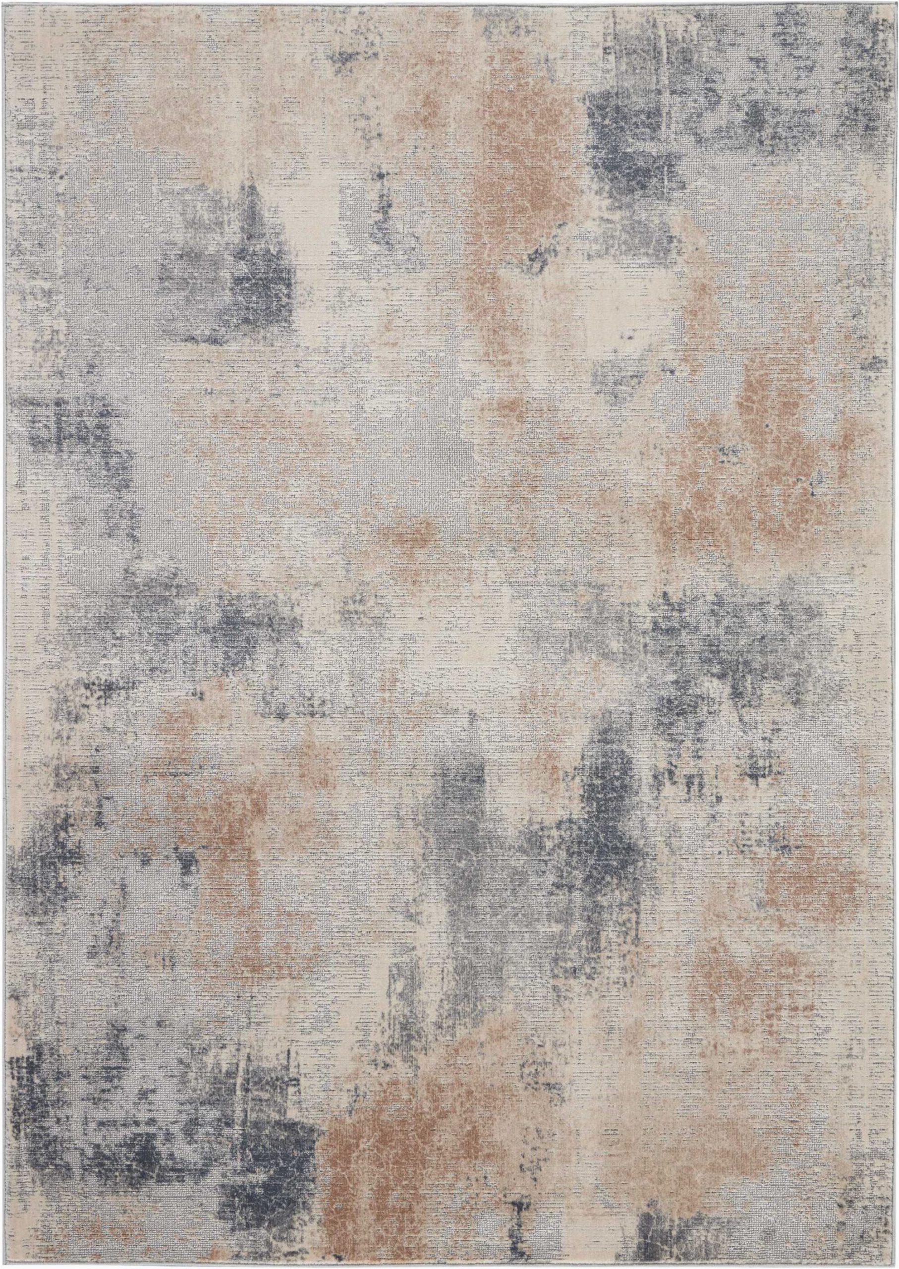 er abstract beigegray area rug