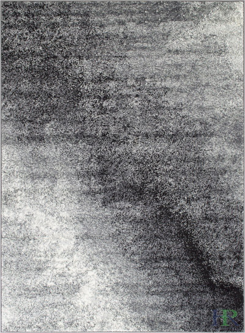 Grey Black and White area Rug Grey White Black Faded Distressed area Rug Splash Pattern