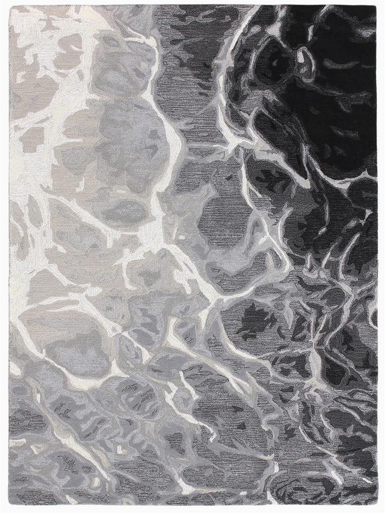 Liora Manne Corsica Water BlackWhite Area Rug p