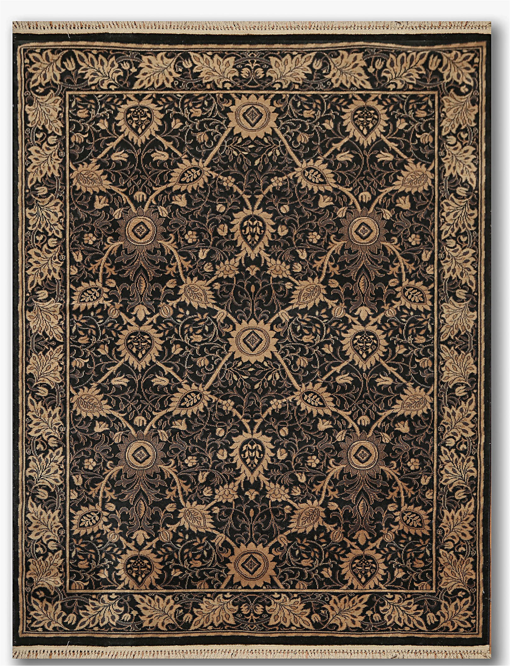 phyllis traditional wool blacktanbrown area rug