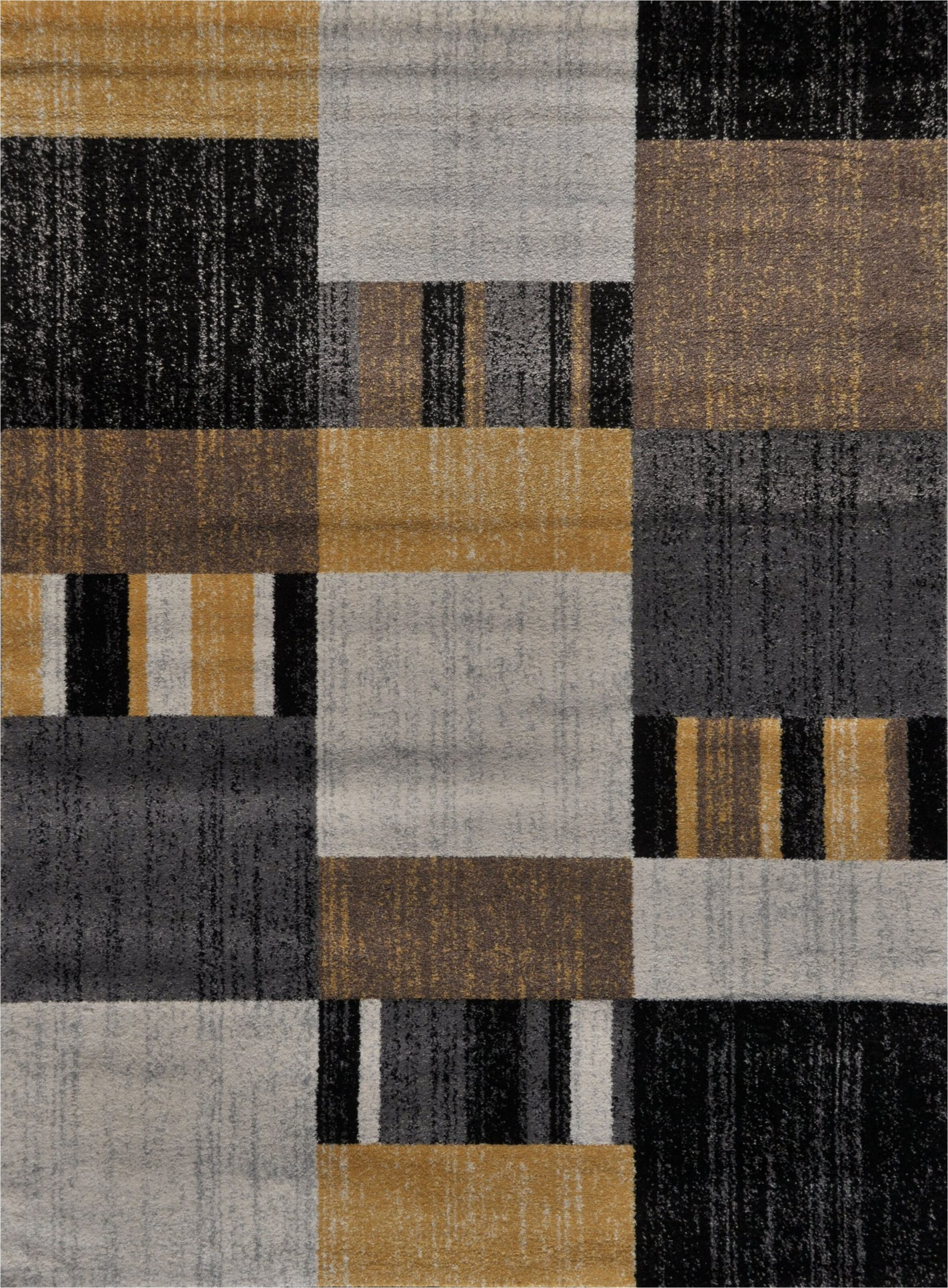 stegner premium abstract yellowgraylight brownblack area rug