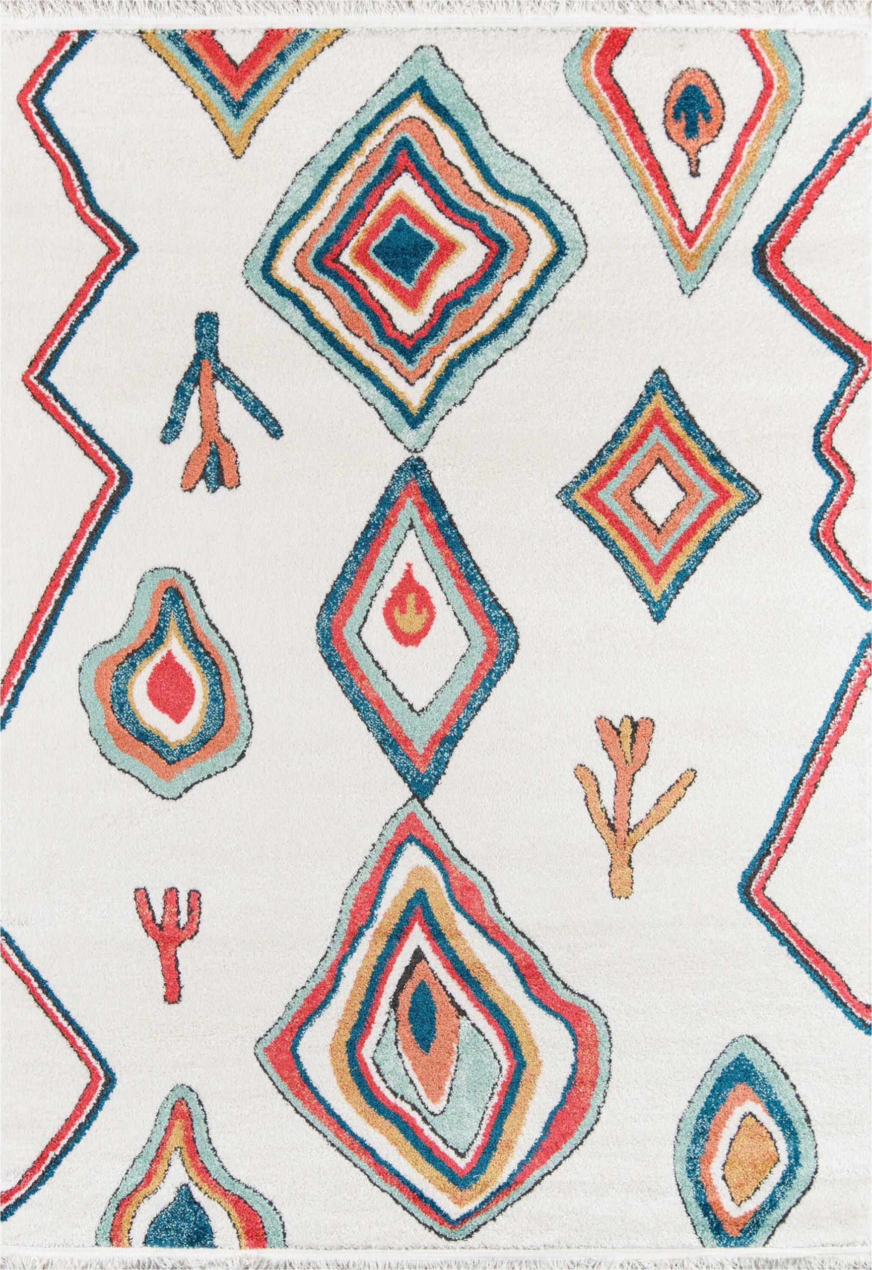 hassett power loom ivoryblue rug