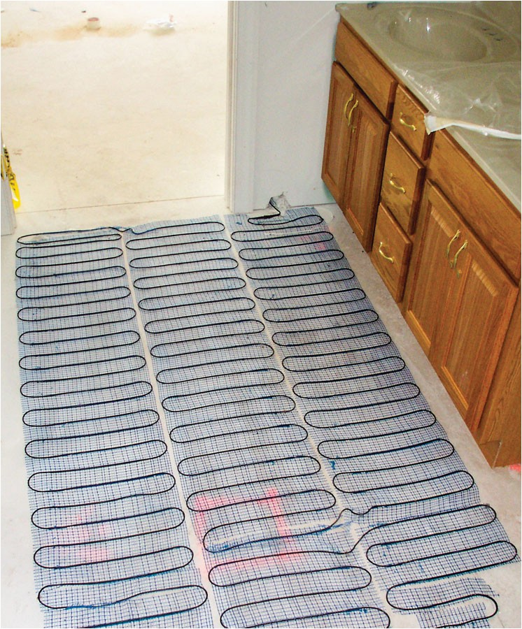 Electric radiant heating cable mesh