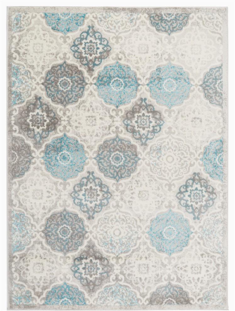 home dynamix boho andorra round area rug 52 round ikat gray blue prvw vr