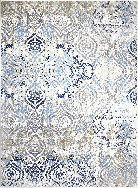 "Home Dynamix Boho Odesa area Rug Home Dynamix Melrose Audrey area Rug 9 2""x12 5"" Rectangle Ivory Blue"