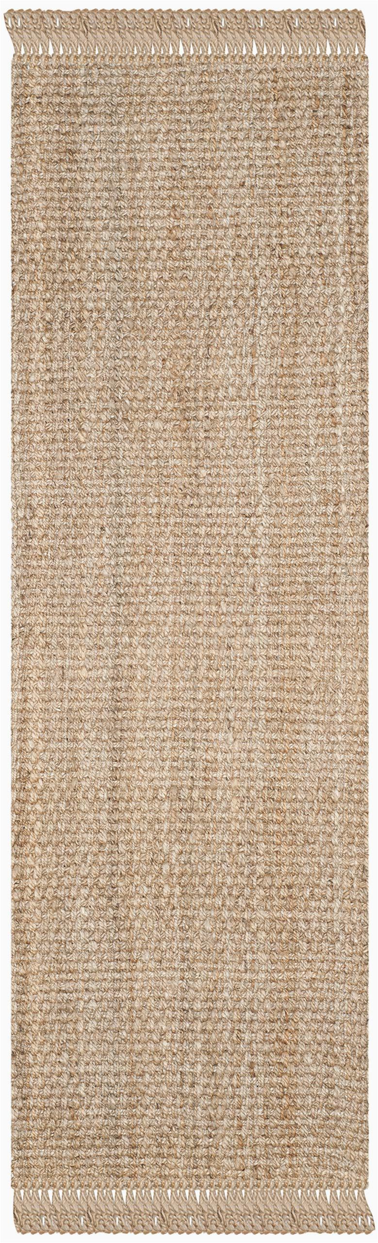 safavieh natural fiber collection nf 733 a hand woven natural jute runner 23 x 7
