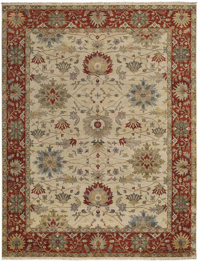 Capel Yazzie 1908 650 Ivory Red Area Rug p