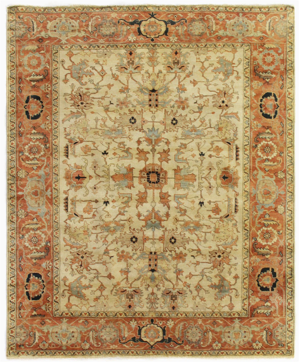 exquisite rugs serapi 9160 ivory red area rugx