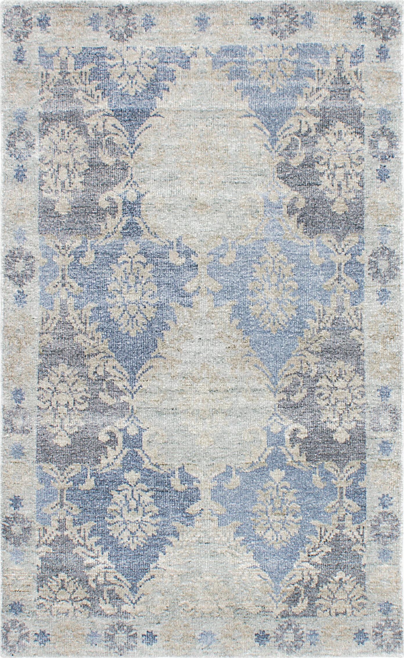 cayla oriental hand knotted silk bluebeige area rug