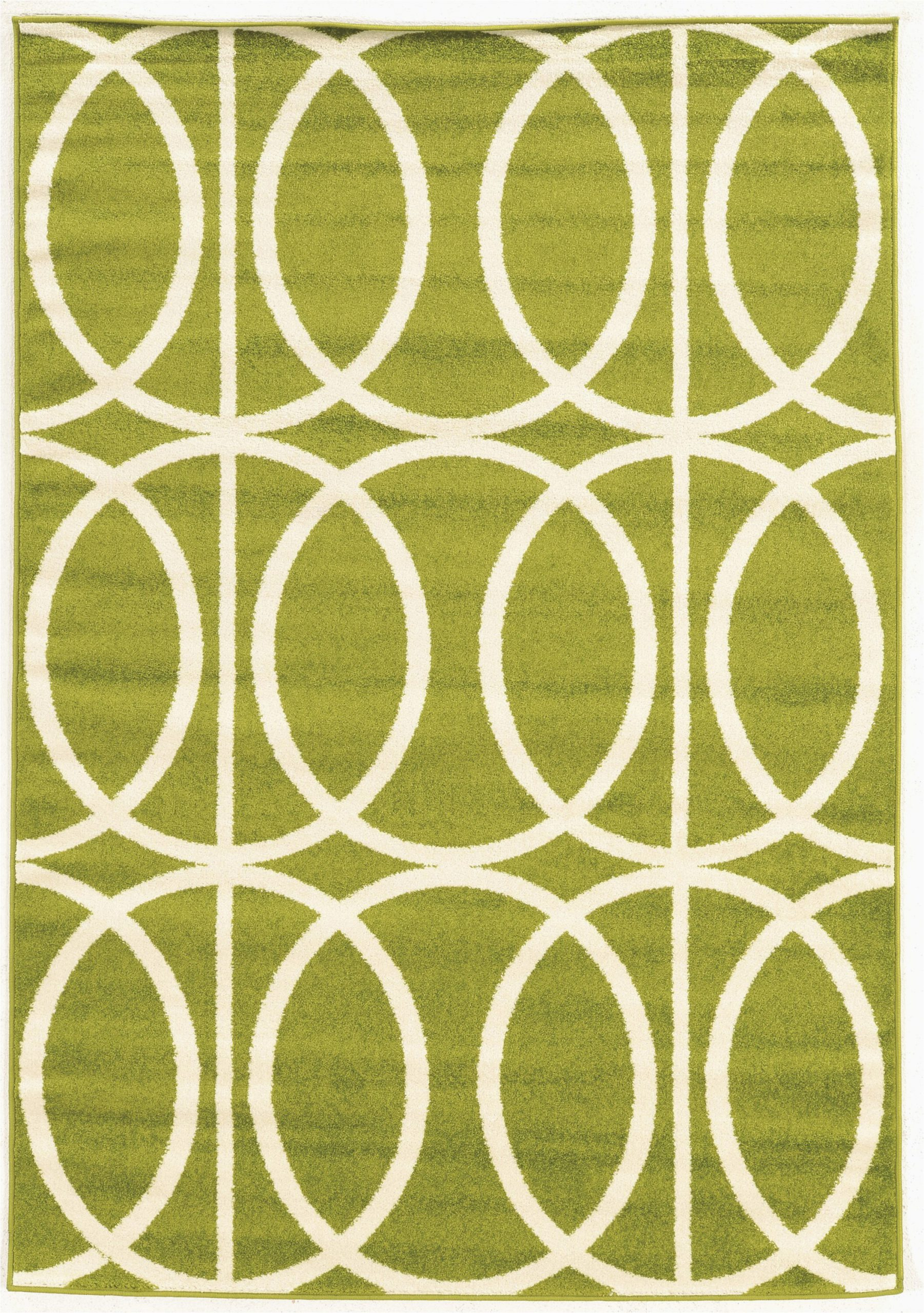jambi geometric lime green area rug