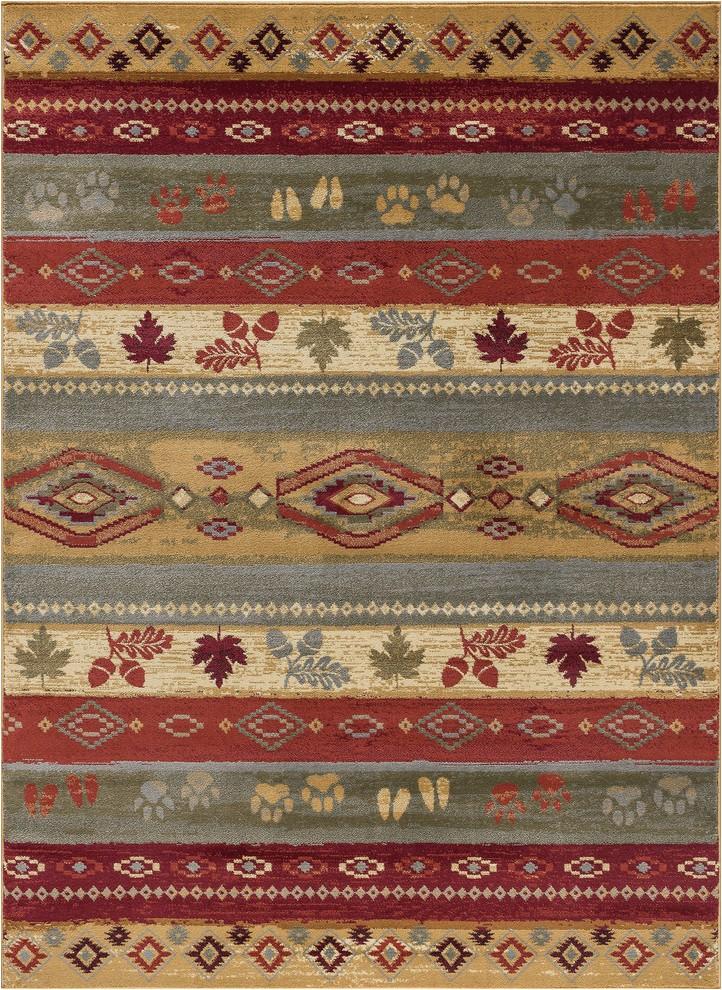 aberdeen novelty lodge multi color rectangle area rug 8 x 10 prvw vr