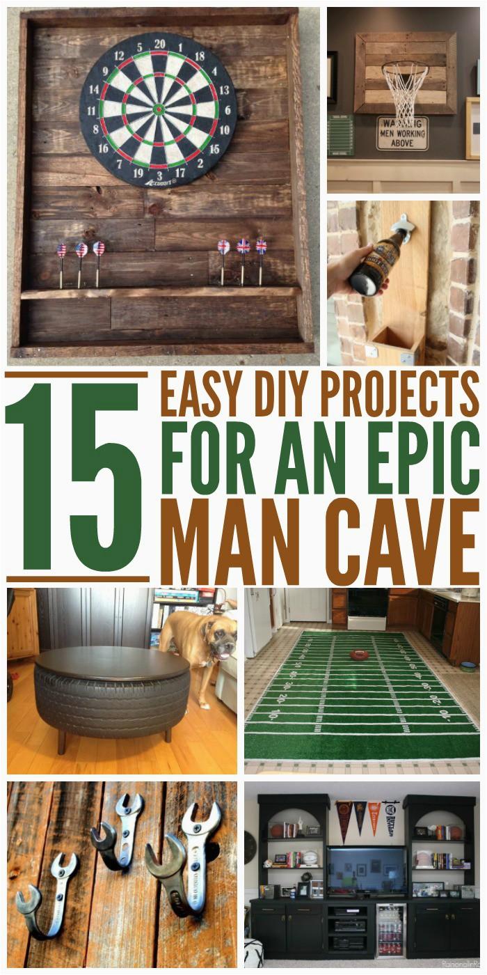15 Easy DIYs for an Epic Man Cave