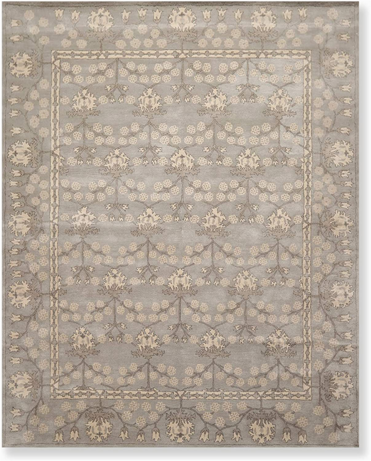 Memory Foam area Rug 8×10 8 X 10 William Morris Handmade Wool oriental area Rug 8×10 Gray