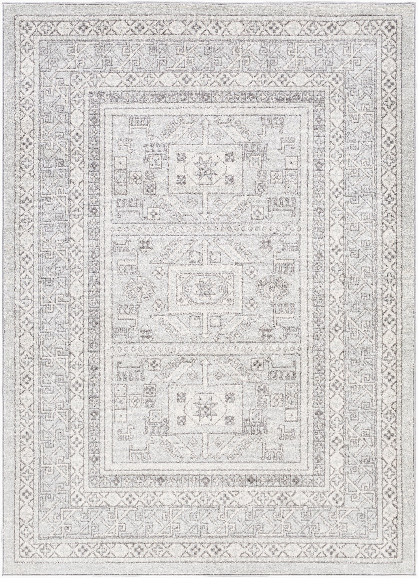 nala southwestern light gray area rug