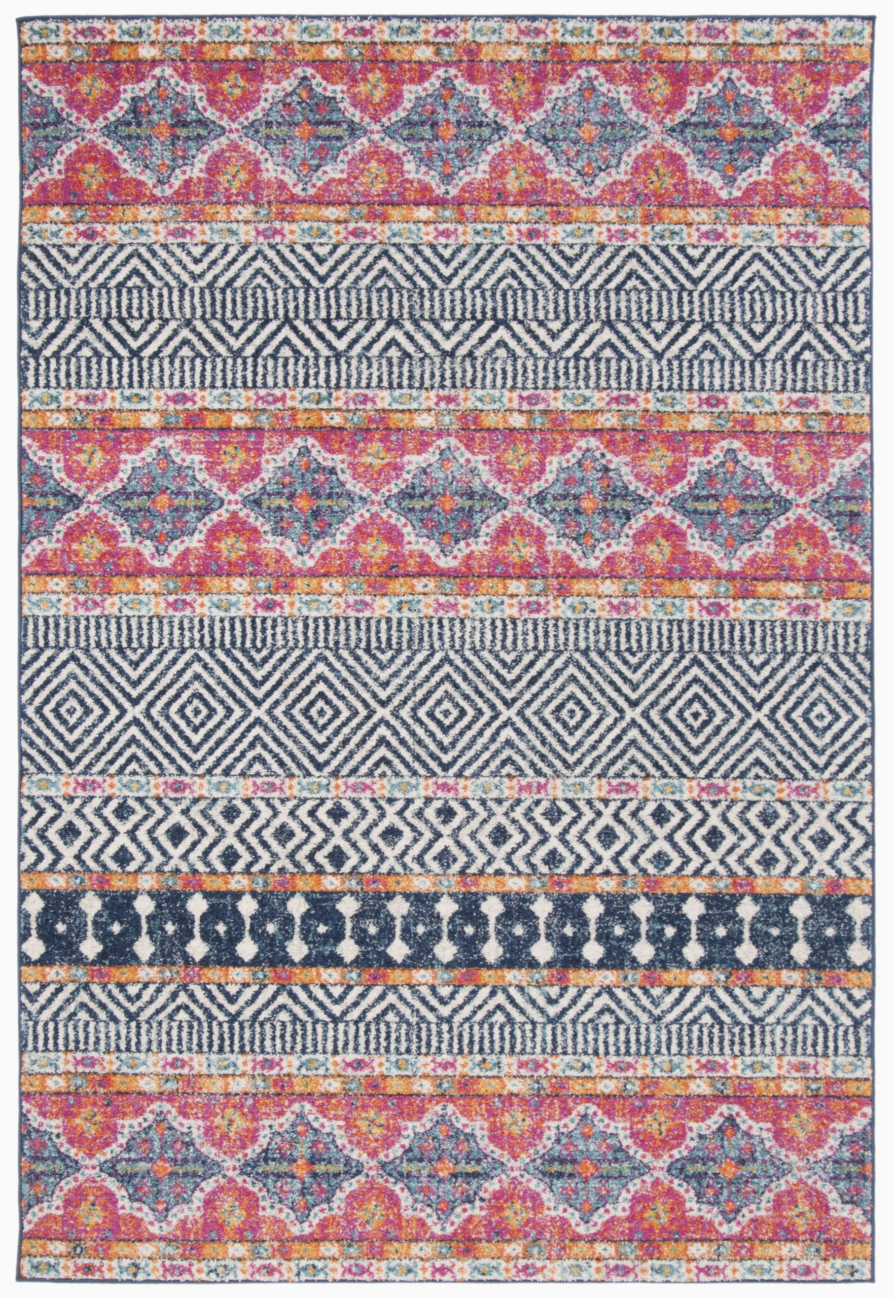 gutierez geometric navy area rug
