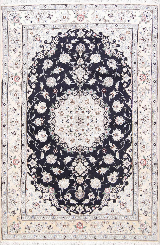 floral navy blue 7x10 nain persian area rug