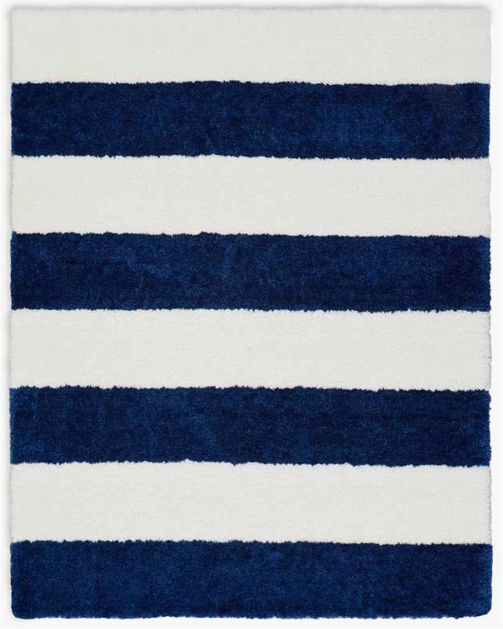 Navy Blue Striped area Rug Chicago Striped Handmade Shag White Navy Blue area Rug