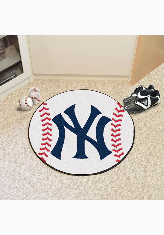 New York Yankees 27 Baseball Interior Rug