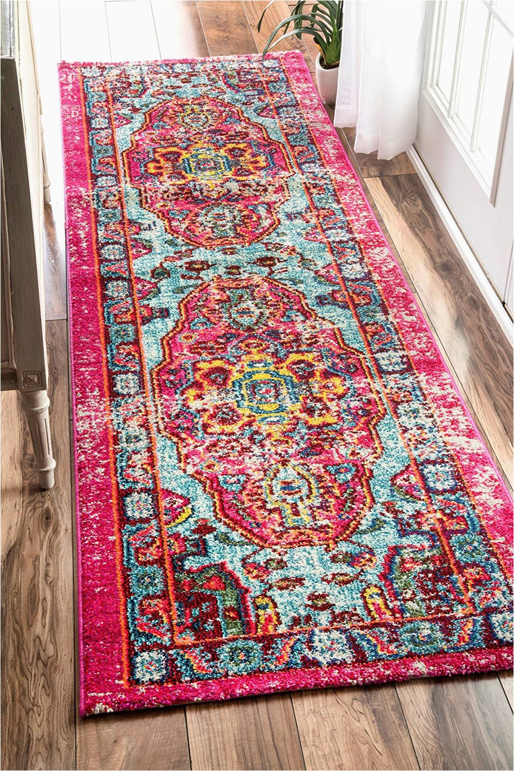 2x8 nuloom oriental vintage distressed abstract runner area rug
