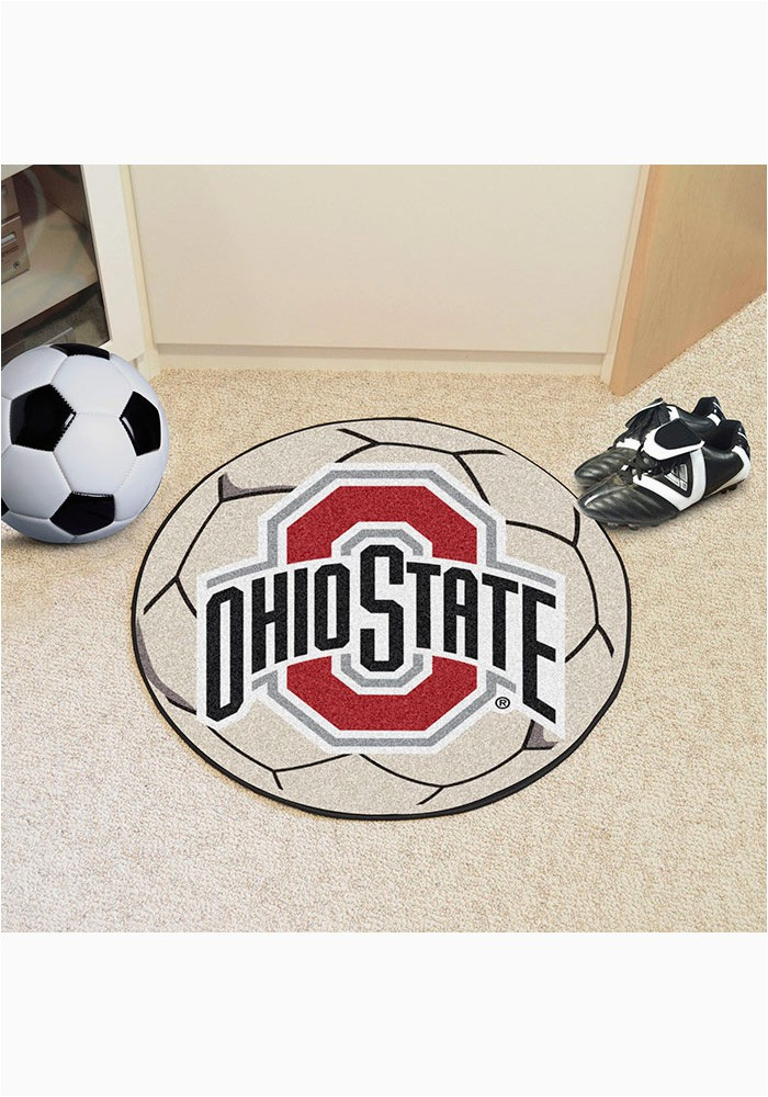ohio state buckeyes 27 inch soccer interior rug