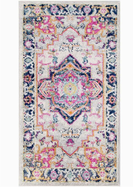 perchoir oriental pinkorangeyellow area rug