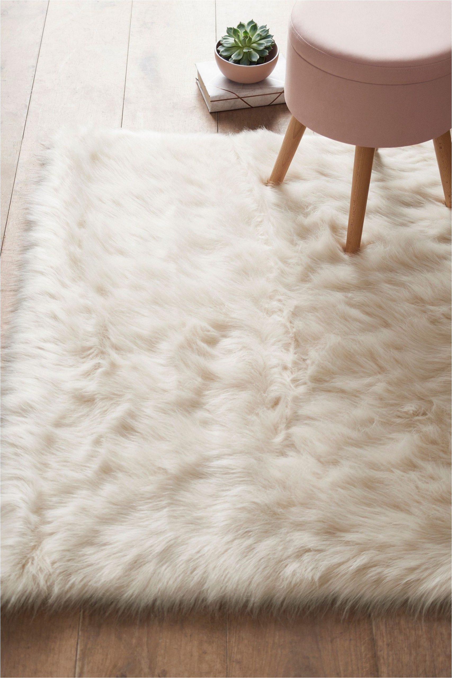 Piper Faux Fur area Rug Next Faux Sheepskin Rug Cream Luxurybedroomrugs