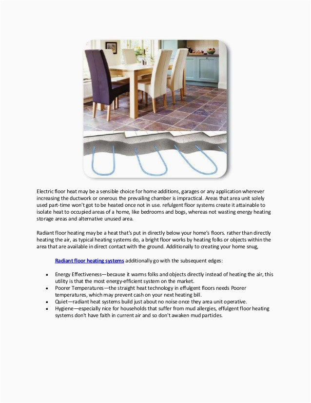 benefits of using electric under floor heating system and electric floor heat home application 2 638