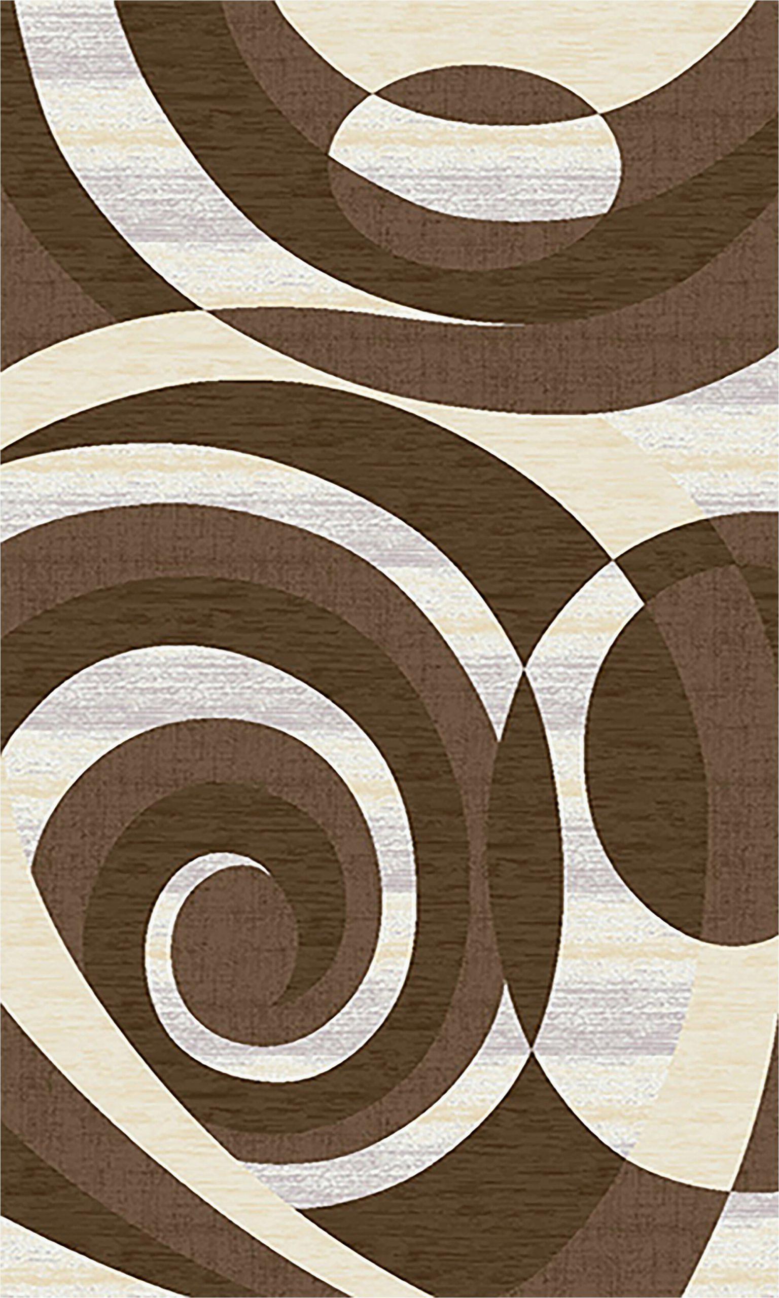 orren ellis galvez 3d effect hand carved abstract brown area rug w