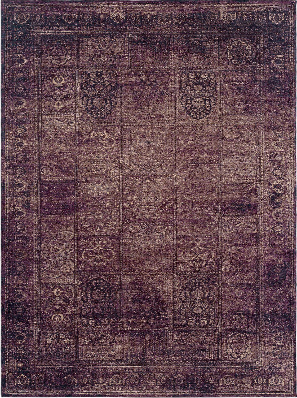 flat woven purple area rug 7 x 10