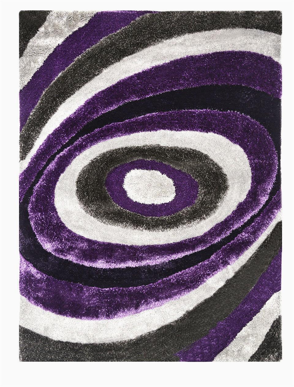 kayley shag purplewhite area rug