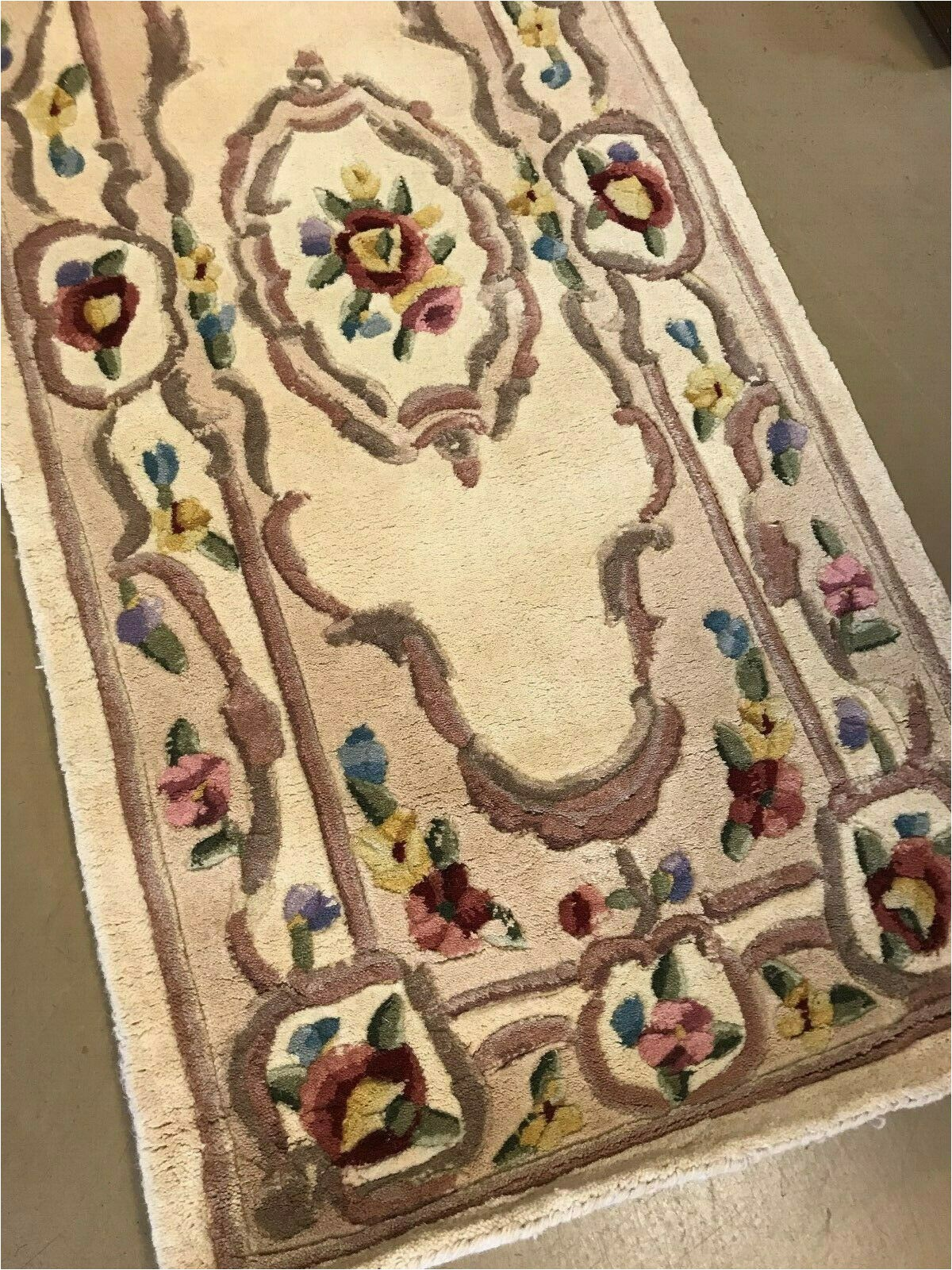 "Qvc area Rugs Royal Palace Royal Palace 2 3""x9 6"" Special Edition Marquis Aubusson Wool Runner"