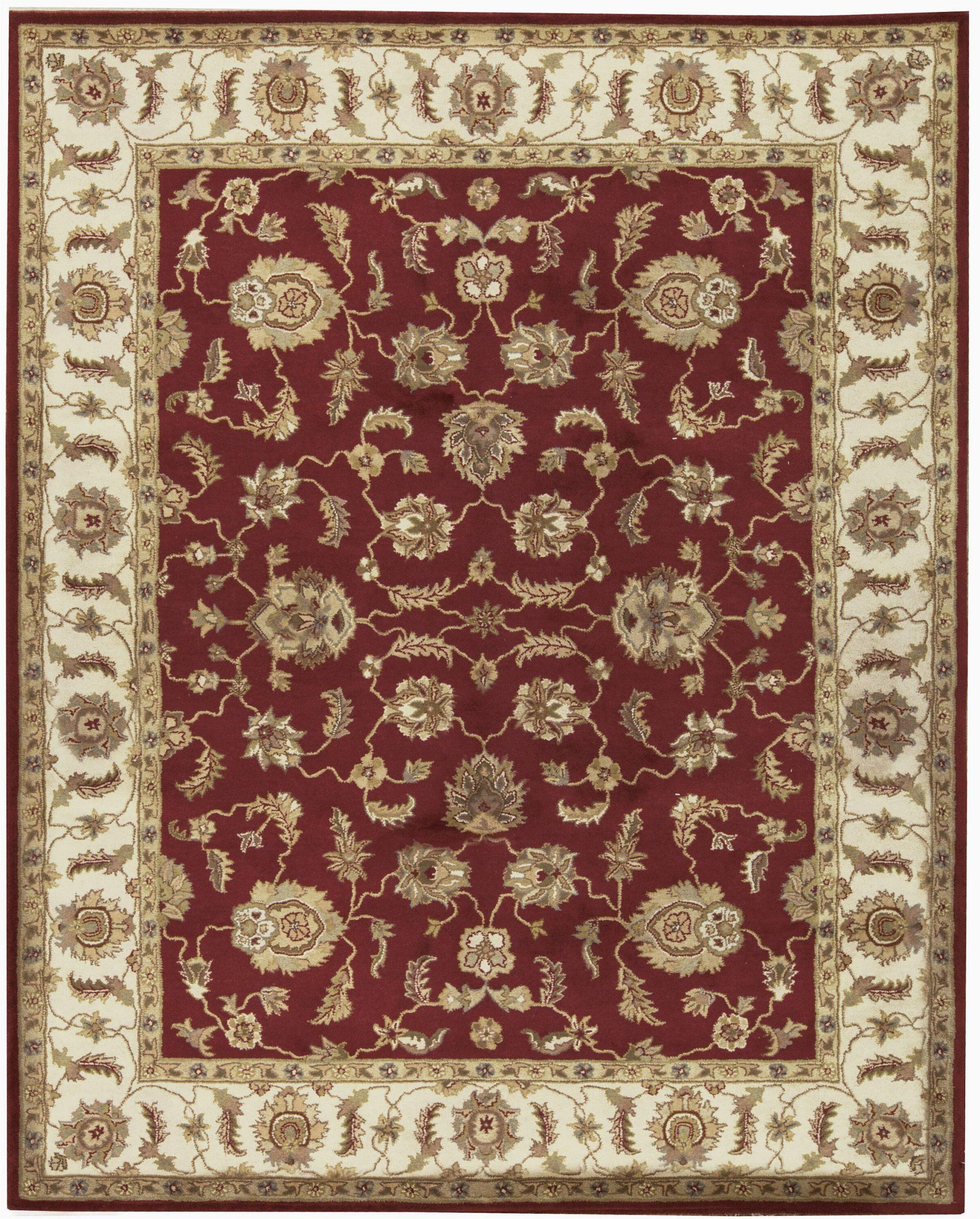 bokara rug co inc hand tufted 8 x 10 wool redbrown area rug abhd1537