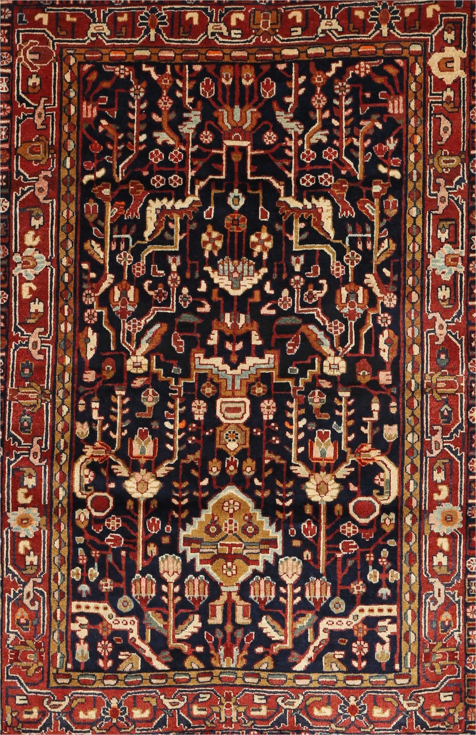 kerns traditional brownblackred area rug