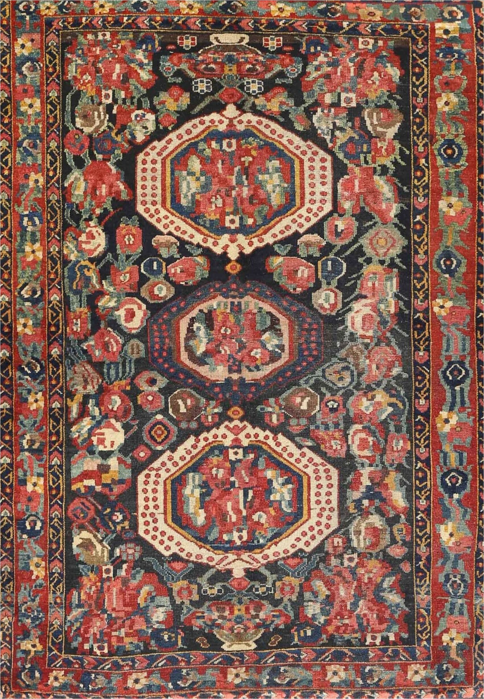 thibault traditional brownblackred area rug
