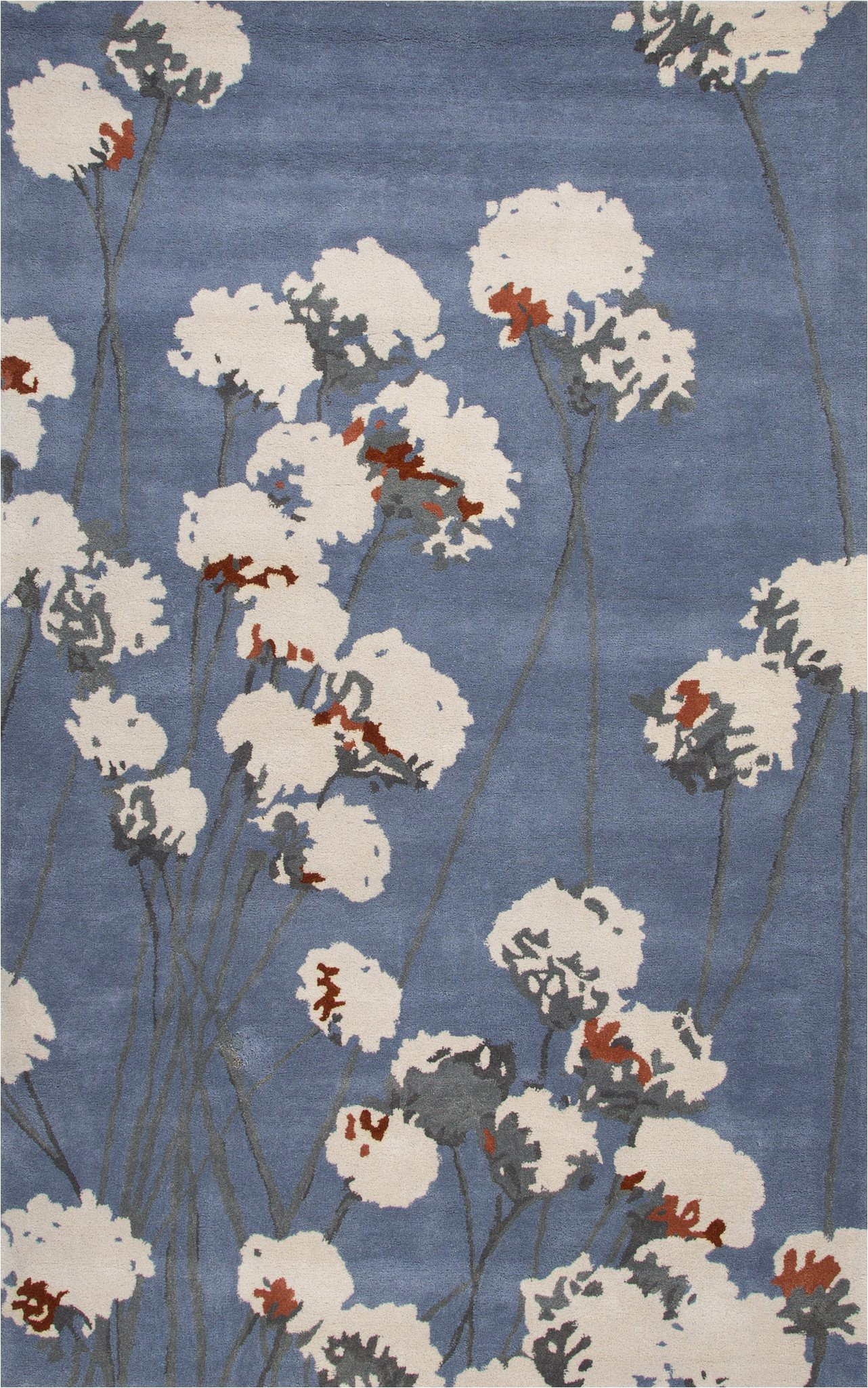 jaipur rugs modern floral pattern blue ivory wool area rug lst32 rectangle