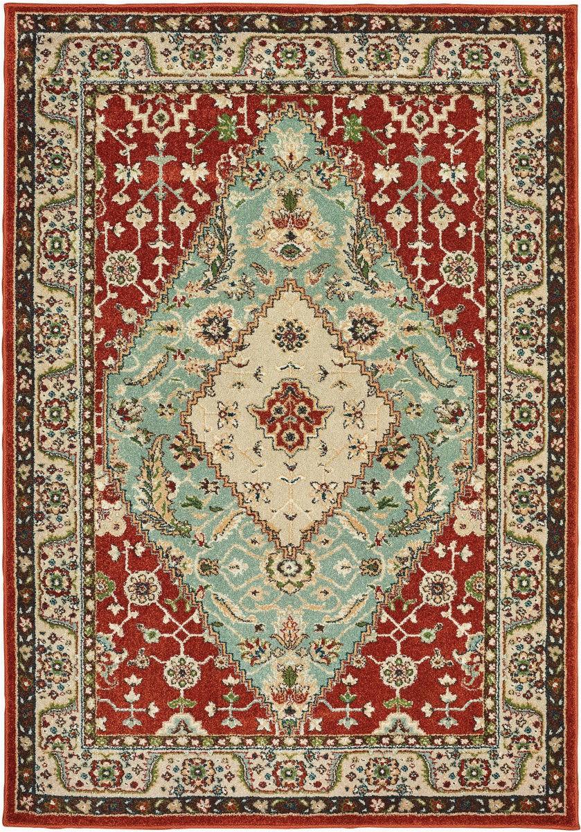 oriental weavers dawson 8315a rust blue area rugx