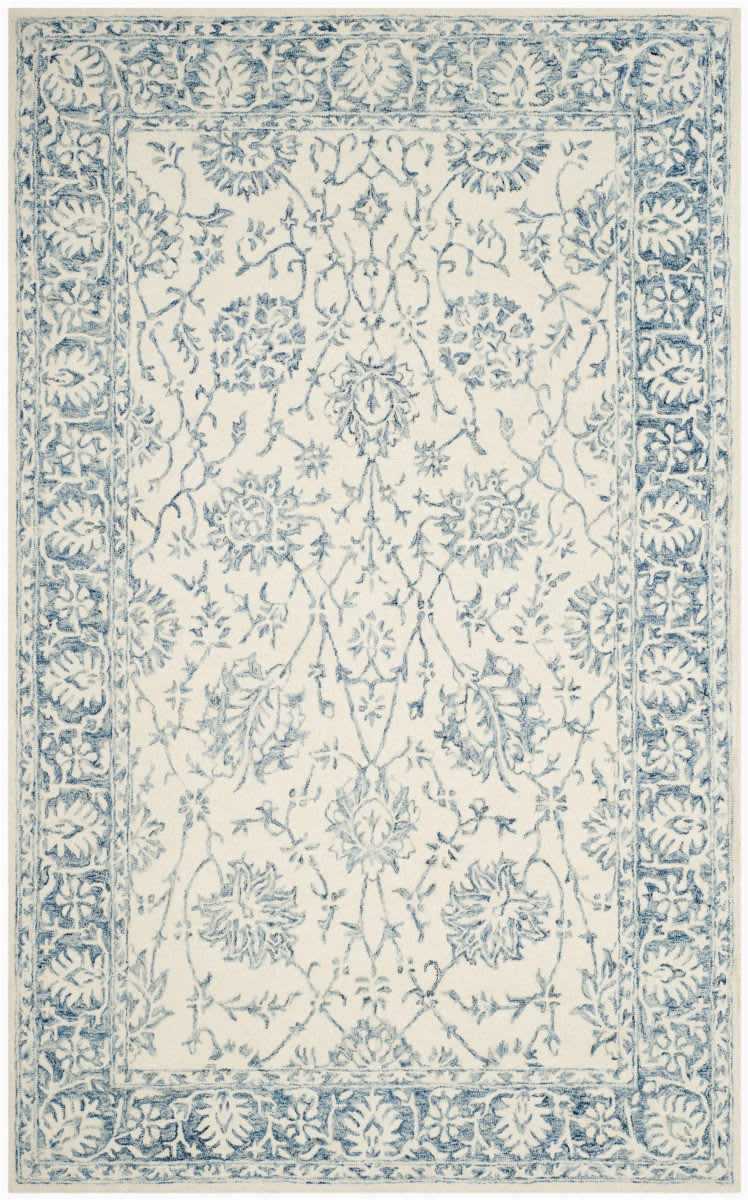 safavieh blossom blm351a ivory blue area rugx