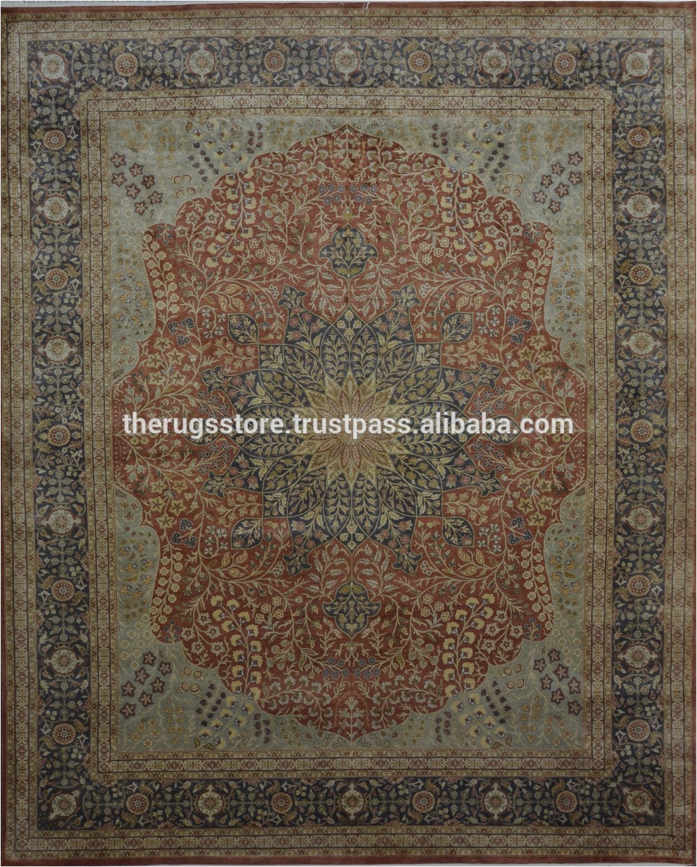 Silk area Rugs for Sale Hand Knotted Pure Real Silk Persian Design 8×10 area