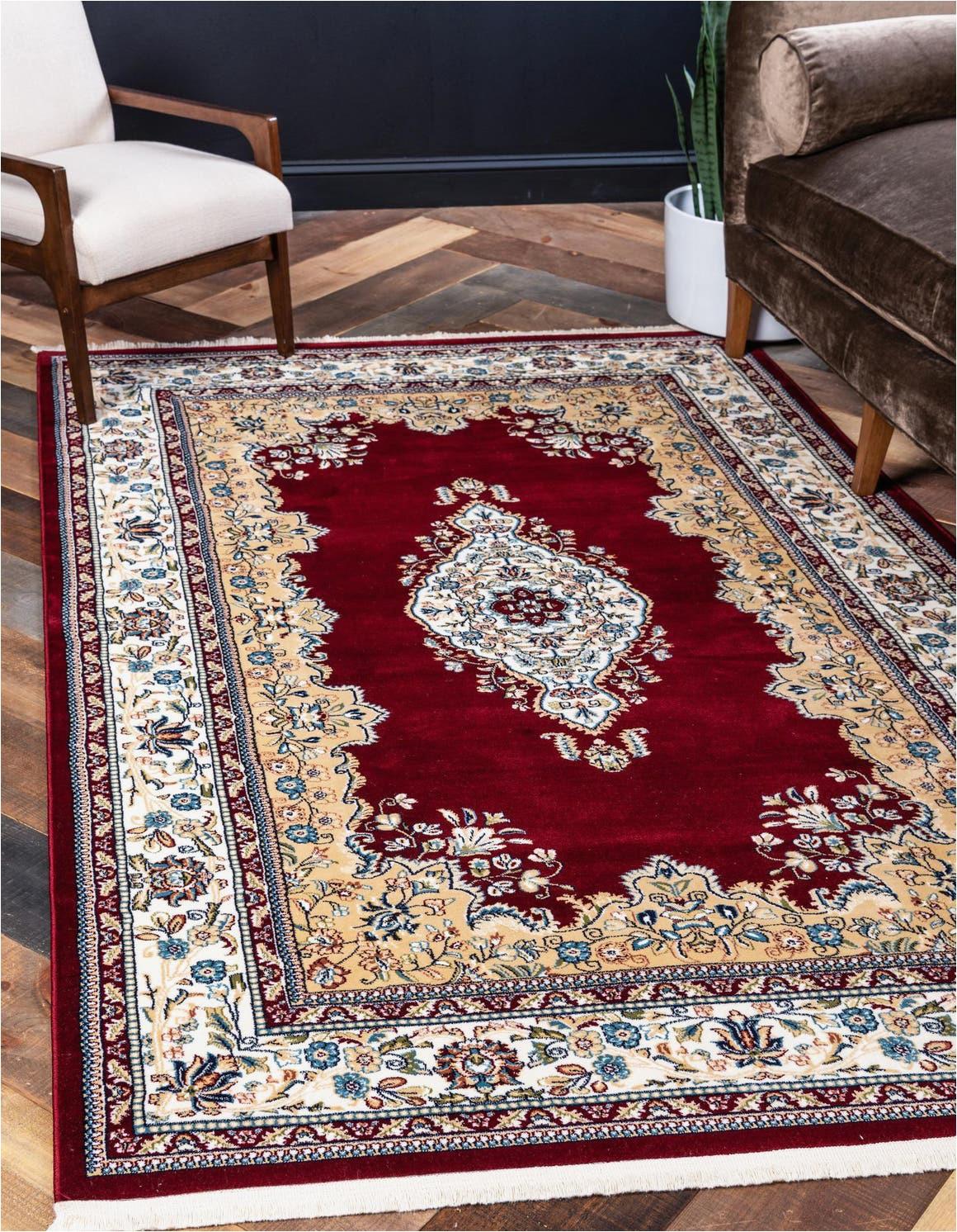 burgundy 8x10 nain design area rug