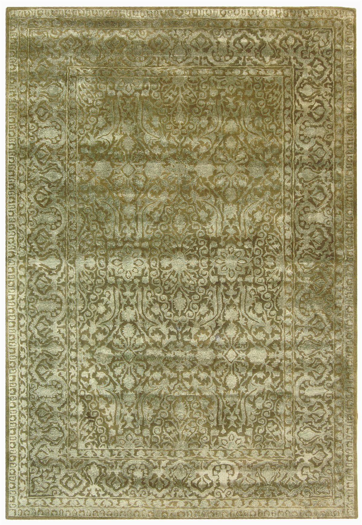 Solid Sage Green area Rug Rug Skr213d Silk Road area Rugs by Safavieh