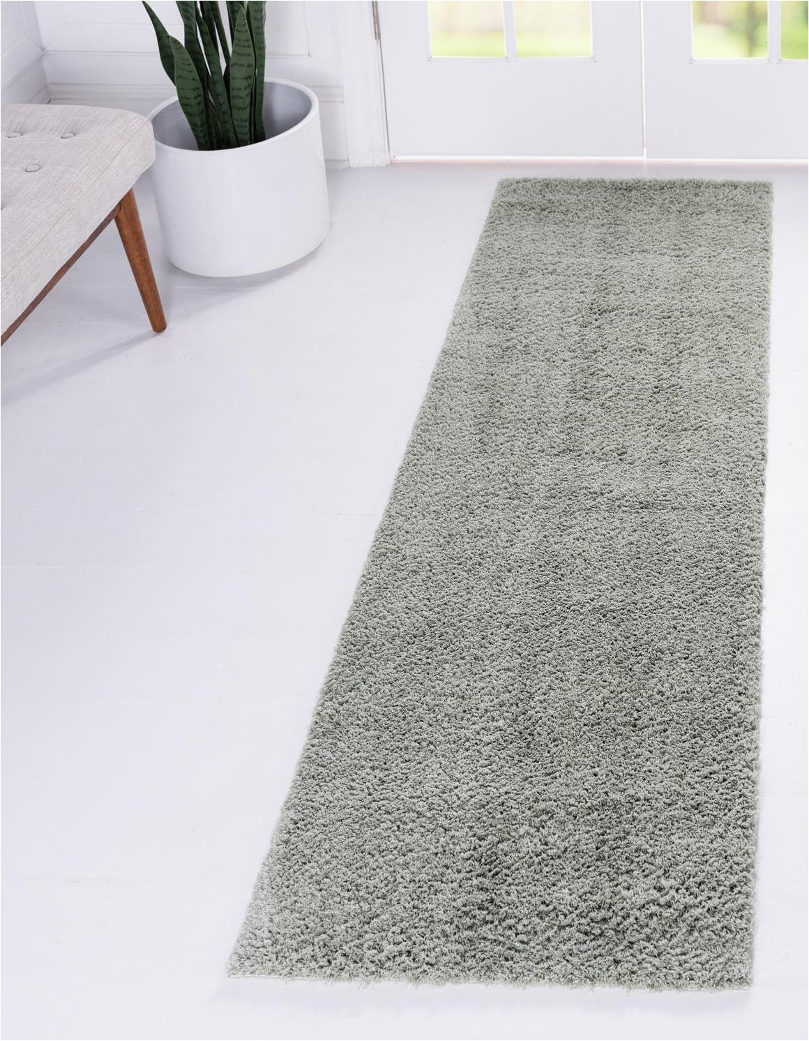 Solid Sage Green area Rug solid Shag Sage Green 10 Ft Runner area Rug In 2020